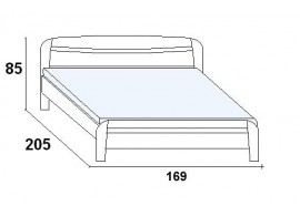 Textilní stan - zábrana C DOMINO D233-RZ