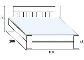 Šatní skříň SZF2D2S, dub-modrá