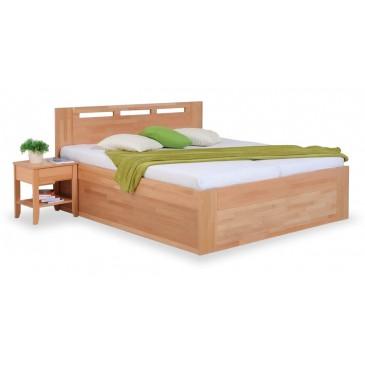 Zvýšená postel s úložným prostorem VALENCIA senior 160x200, 180x200, masiv buk