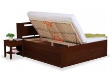 Zvýšená postel s úložným prostorem VALENCIA senior, boční výklop, ořech