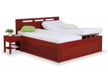 Zvýšená postel s úložným prostorem VALENCIA senior, čelní výklop, kaštan