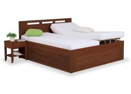 Zvýšená postel s úložným prostorem VALENCIA senior, čelní výklop, ořech