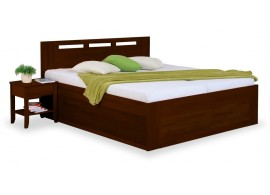 Zvýšená postel s úložným prostorem VALENCIA senior 160x200, 180x200, ořech