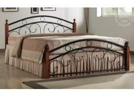 Manželská postel - dvoulůžko CS4021, 180x200, dřevo-kov