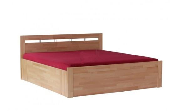 Zvýšená postel s úložným prostorem TAISA senior, 180x200, masiv buk