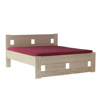 Zvýšená postel CAMARON ALTO 180x200 senior, masiv smrk - extra vysoká
