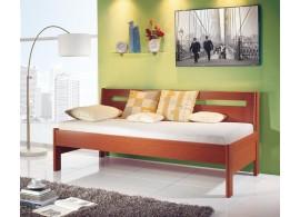 Manželská postel - dvojlůžko LEONA 160x200, 180x200, masiv buk - moření třešeň světlá