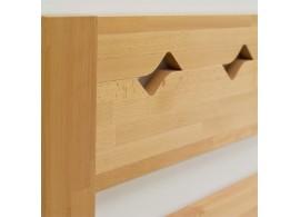 Dětská postel se zábranou - pravá DREW-132, masiv borovice