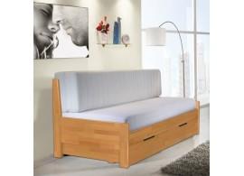 Rozkládací postel s úložným prostorem TANDEM KLASIK 90x200, jádrový buk