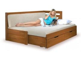 Manželská postel - dvoulůžko u LEONA 180x200, masiv buk