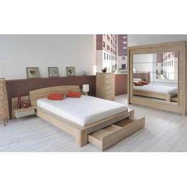 Rozkládací postel z masivu DUELO 90x200/180x200, buk