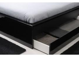 Rozkládací postel s úložným prostorem TANDEM KLASIK, pravá 90 x 200, buk