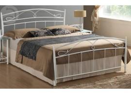 Bílá kovová postel - dvoulůžko CS4017 160x200, bílá