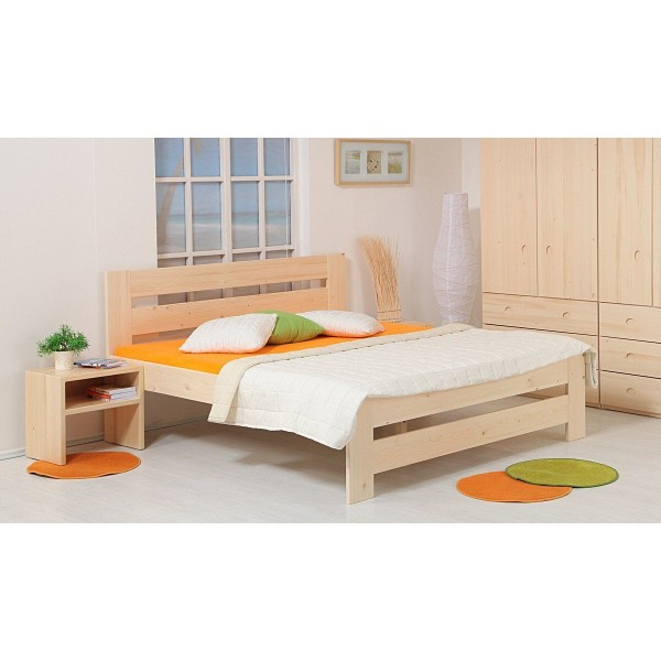 Zvýšená postel METAXA senior 180x200, masiv smrk
