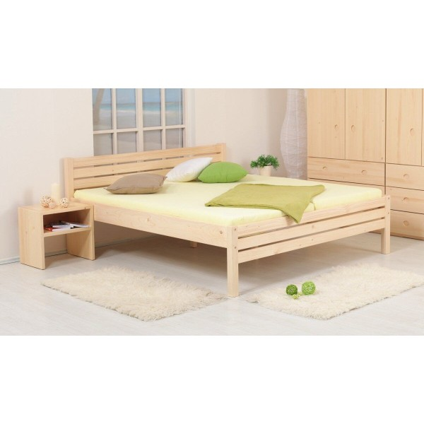 Zvýšená postel KARLA senior 180x200, masiv smrk