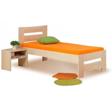 Zvýšená postel METAXA senior 90x200, masiv smrk