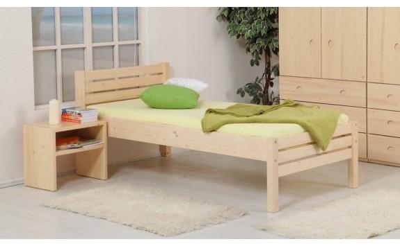 Zvýšená postel KARLA senior 90x200, masiv smrk