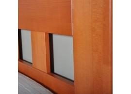 Manželská postel - dvoulůžko PORTO, dřevo-kov, 160x200