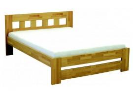 Manželská postel - dvoulůžko VIKTORIE, dřevo-kov, 180x200