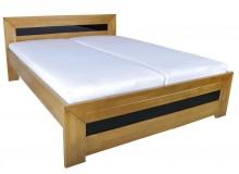 Manželská postel z masivu - dvoulůžko SALMA 180x200, buk