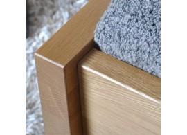 Manželská postel - dvoulůžko SILVER, 180x200, dřevo-kov