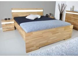 Manželská postel - dvoulůžko MONA 160x200, masiv buk