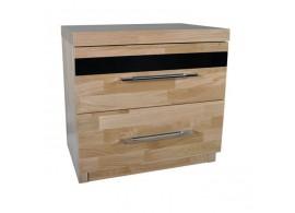 Noční stolek VD-275, dřevo a kov
