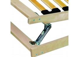 Zvýšená postel s úložným prostorem SOFIA - F118 160x200, 180x200, boční výklop, masiv buk