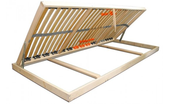 Vyklápěcí lamelový rošt do postele DOUBLE PRAKTIK B, 90x200, 28 lamel