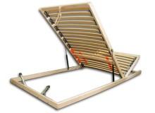 Vyklápěcí lamelový rošt do postele DOUBLE PRAKTIK N, 80x200, 28 lamel