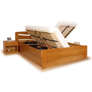 Zvýšená postel s úložným prostorem EVITA 6 senior 160x200, 180x200, masiv buk