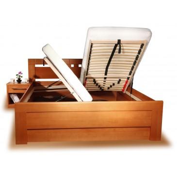 Zvýšená postel s úložným prostorem ARLETA 1 senior 160x200, 180x200, masiv buk