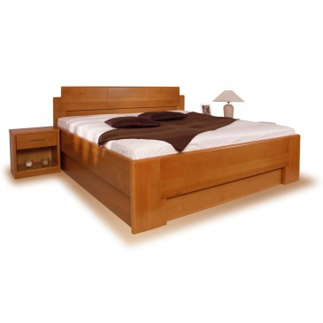 Zvýšená postel s úložným prostorem DELUXE 1. 160x200, 180x200, masiv buk