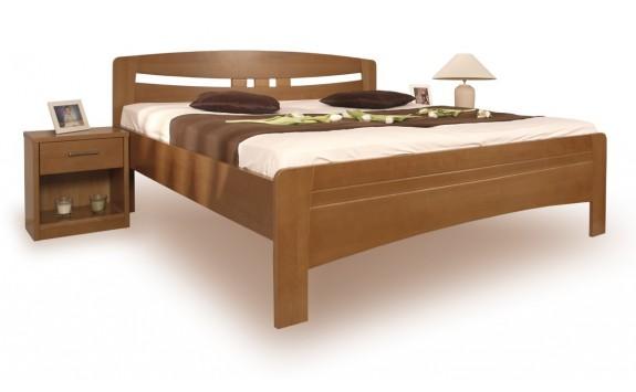 Zvýšená postel z masivu EVITA 6 senior 160x200, 180x200, buk - tabák