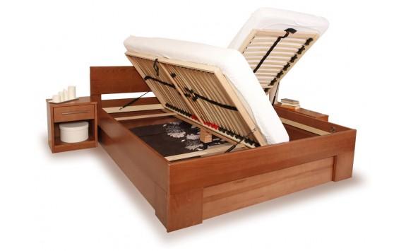 Manželská postel - dvojlůžko s úložným prostorem VAREZZA 6B 160x200, 180x200, masiv buk