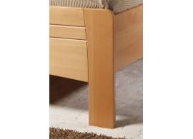 Manželská postel s úložným prostorem LEONA L1 180x200, masiv buk