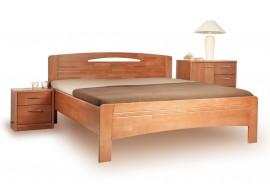 Manželská postel s úložným prostorem LEONA R2 180x200, masiv buk