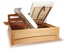 Zvýšená postel s úložným prostorem EVITA 2 senior 160x200, 180x200, masiv buk