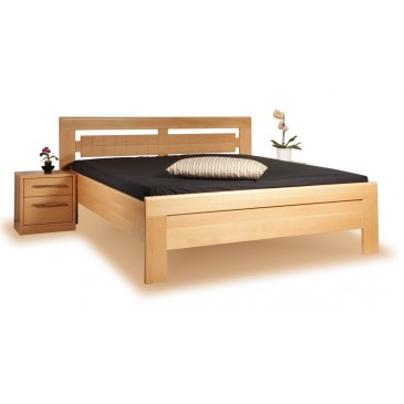 Zvýšená postel - dvoulůžko ARLETA 3 senior 160x200, 180x200, masiv buk