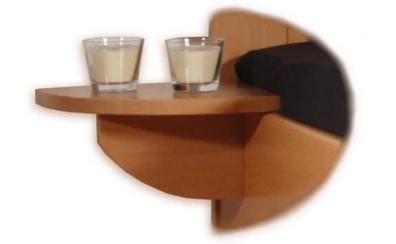 Noční stolek závěsný 1+1 zdarma, masiv buk