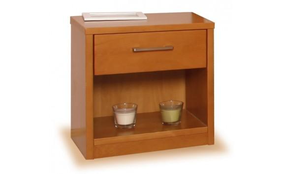 Noční stolek zásuvkový 1+1 zdarma, masiv buk