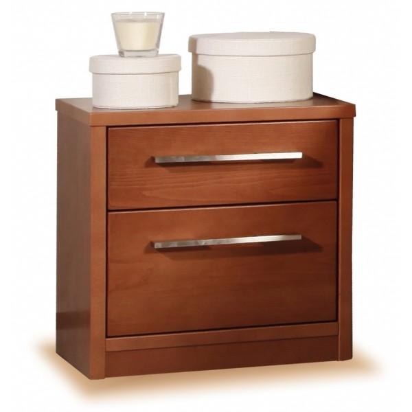 Noční stolek 2 zásuvkový, masiv buk