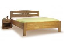 Zvýšená postel z masivu EVITA 1 senior 160x200, 180x200, buk - tabák