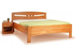 Manželská postel z masivu EVITA 1 senior 160x200, 180x200, buk - třešeň