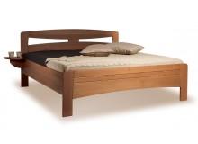 Manželská postel z masivu EVITA 2 senior 160x200, 180x200, masiv buk - moření tabák