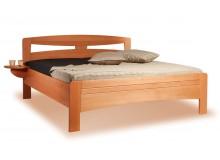Zvýšená postel EVITA 2 senior 160x200, 180x200, masiv buk - moření třešeň