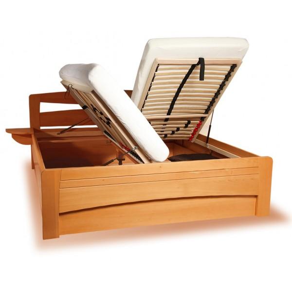 eac5644f57be Manželská postel s úložným prostorem EVITA 2 senior 160x200