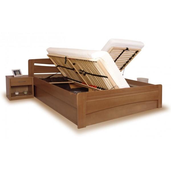 31778116967b Manželská postel s úložným prostorem EVITA 6 senior 160x200