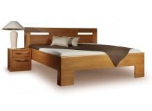 Manželská postel z masivu VAREZZA 5 senior 160x200, 180x200, masiv buk - moření tabák