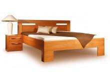 Manželská postel z masivu VAREZZA 5 senior 160x200, 180x200, masiv buk - moření třešeň